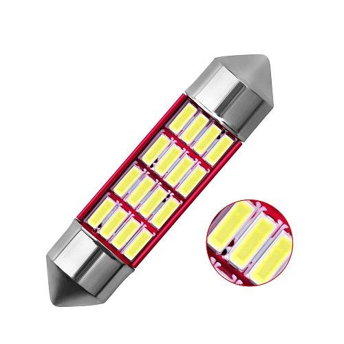 Festoon 31mm 36mm 39mm 41mm C5W C10W Auto Bulb Doom Lamp Ceiling Canbus No Error Car Interior Dome Light Trunk Lights White 12V