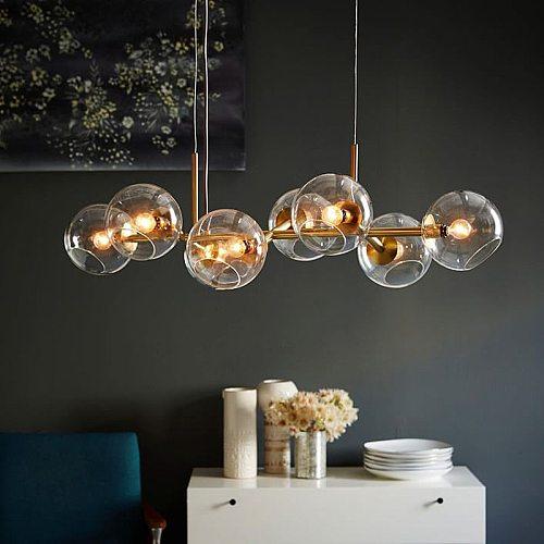 Nordic Loft Glass Ball Pendant Lights Creative Molecule Design Winehouse Living Room Kitchen Bar Hanging Light Fixtures