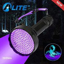 TMWT 128 UV LED Black Light Flashlight 395nm Ultraviolet Blacklight Torch Detector For Scorpion hunting,Dog Urine and Bed Bug