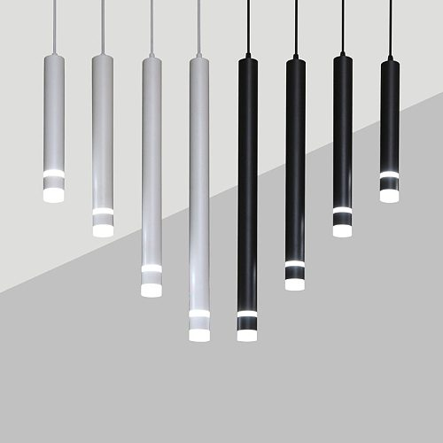 Dimmable 7W  10W Pendant Led light Long Tube Kitchen Island Dining Room lights fixtures Cylinder Pipe Hanging for home decor
