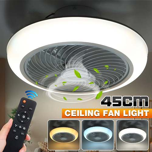 36W/72W 110V/220V 45cm Dimmable LED Ceiling Fan Light Remote Control Fan With Lighting Adjustable Wind Speed LED Air Cooler Lamp