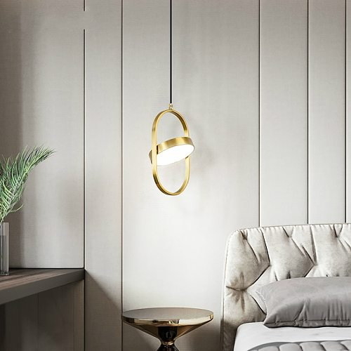 Modern Led Pendant Lights Fixture Bedroom Kitchen Dining Room Hanging Lamps Luminaire Suspension Gold Home Decoration Lighting