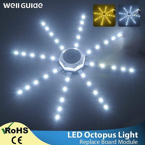 LED Ceiling Lamp Octopus Light 12W 16W 20W 24W Magnetic plate Ring Light Led Lamp 220V LED Light BoardSMD 2835 Cold Warm White