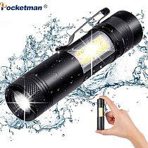 5800LM XML-Q5+COB LED Flashlight Portable Super Bright Adjustable torch Use AA 14500 Battery Waterproof in life Lighting lantern