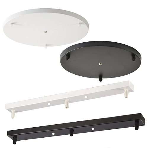 Pendant Lights Black/White Ceiling Plate Long Strip Round Disc Base Hanging LED Handing Lamps Special Accessories