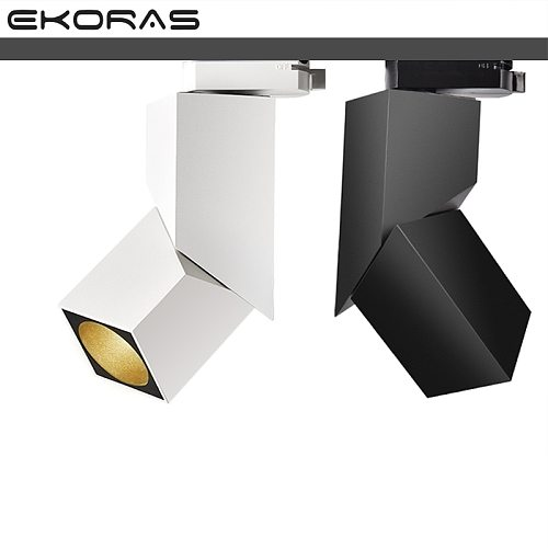 Fashion Art Cube 7W 12W 15W CREE Led track light Adjustable angle Rail lamp Ceiling System For Indoor Track Lighting