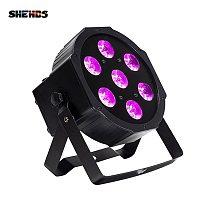 SHEHDS LED 7x18W RGBWA+UV Par Light with DMX512 6in1 Stage  Wash Effect DJ Disco 54x3W 12x3W Mini Spotlighting 10W
