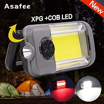 Asafee Brightest XPG+COB Multifunctional Emergency Charging Work Light Magnetic Flashlight with Built-in Battery USB Work Lamp