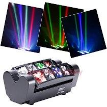 Mini led spider beam 8x12w moving head light dmx control music control 8x12w beam spider light excellent for party disco ktv