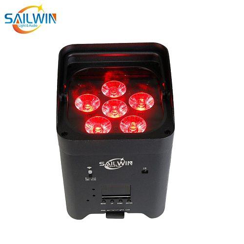 Sailwin EU Stock Wedding LED Uplight 6X18W RGBAW UV Battery Powered Wifi APP Phone Control LED Par Light Smart Stage Lighting
