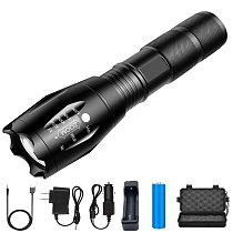 D2 Powerful LED Tactical Flashlight Rechargable Portable Men LED Camping Lamp Torch Lights Lanternas Tactical Flashlight Torches