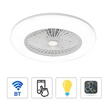 Ceiling Fan with Light Without Battery 36W Modern LED Ceiling Light for Bedroom Living Room Dining Room Remote and APP Control