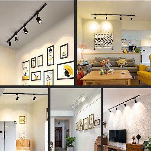 Led Track Light Modern Lamp Spot Led Rail Track Lighting Fixtures for Home Spotlight Systems 12/20/30/40W Living Room Shop Store