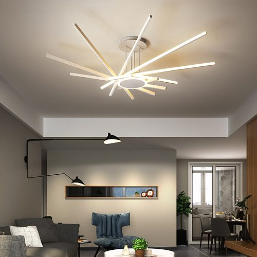 Led Modern Chandelier Lights Home Decor For Living Dining Room Kitchen Bedroom Ceiling Pendant Lamp With Remote Control Fixture