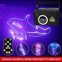 OUFULA Stage Lighting Effect Laser Dj Christmas Light Customizable  Words Pattern Animation Full Color 3D Remote Control