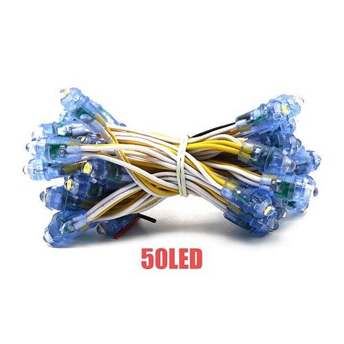 50PCS LED String lights 9mm Single Color Pixel Modules DC5V IP67 Waterproof Point Lights For Advertisement Letters