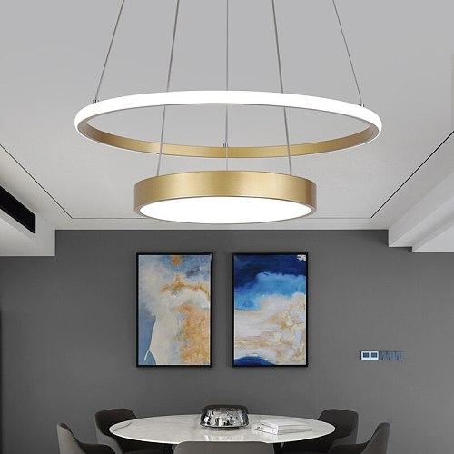 Modern Led Pendant Lights For Dining Living Room Kitchen Bar suspension luminaire suspendu Gold Avize Lustre Pendant Lamp