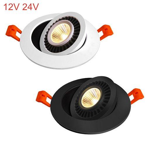 AC/DC 12V 24V 360° Rotatable Angle LED Recessed Downlight 5W 7W 10W 15W 18W LED Ceiling Spot Light 3000K/4000K/6000K