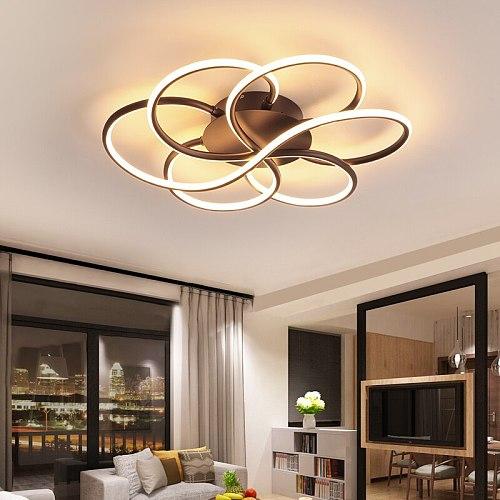 Ceiling chandelier for living room bedroom lamparas de techo Acrylic Aluminum Wave Avize Lustre Modern LED Chandelier Lighting