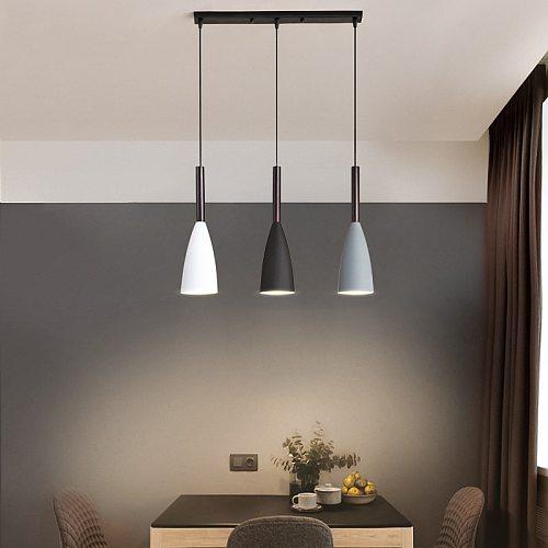 Modern 3 Pendant Lighting Nordic Minimalist Pendant Lights Over Dining Table Kitchen Island Hanging Lamps Dining Room Lights E27