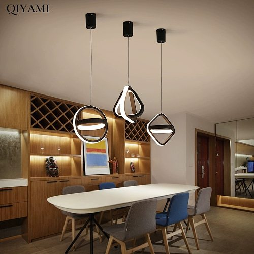 Modern LED Pendant Lights for Living Room Parlor Bedroom Round Square lamps indoor Lighting Dropshipping Hanglamps Luminaire