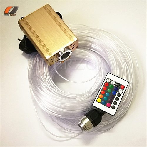 FY16W-750-004 Colorful LED Fiber Optic Light Bundle 60pcs 2m Side Light Pointed Fiber Optic Cable with RGB Remote Controller