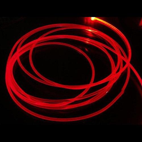 Car Long 2M PMMA Side Glow Optic Fiber Cable 3mm Diameter For Car LED Lights Bright Interior Decorative Light