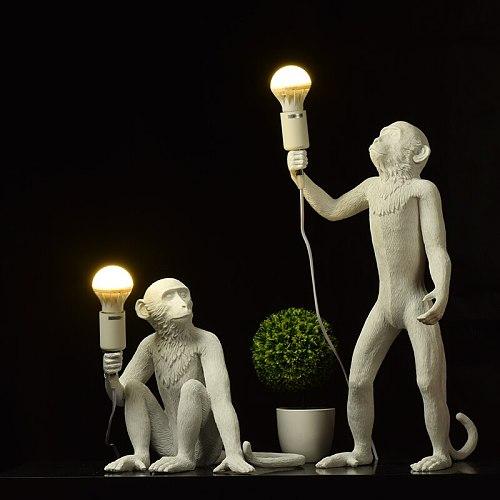 Modern Monkey lamp Rope LED Pendant Lights Lighting Nordic Resin Couture Restaurant Retro Art Hanging Lamp room decor luminaire