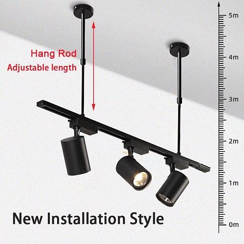 New Design Track Light Spot Led 220v Track Lamp 12/20/30/40w With Adjustable Hang Rod Spots Rail t Track Lighting For Home Store