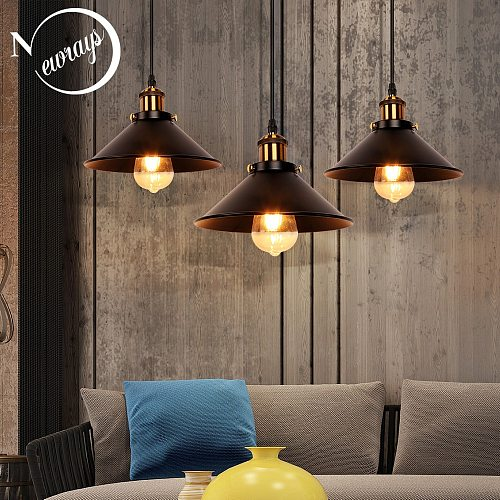 American Modern Retro LED Bronze Combinations Pendant Lights Attic Bedroom Bedside Bar Decoration Single Head Hanging Lamp Head