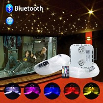 Bluetooth Twinkle 32W RGBW Fiber Optic Light kit Mixed 800strands*4M Cable RF Remote Control Music Control Star Ceiling Lighting