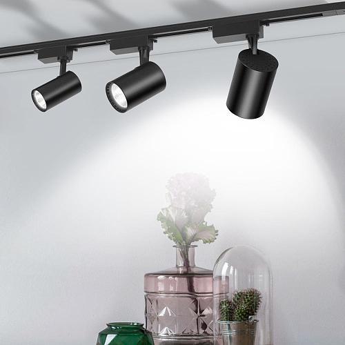 LED Track Light 12/20/30/40W COB Track Lights Rail Spotlight Lamp Aluminum Track Rail Fixture Shop Window display lighting 220V