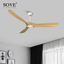 60 Inch Wood Ceiling Fans Without Light Ceiling Fans For Home Modern Decoration Solid Wood Dc Ceiling Fan With Remote Control
