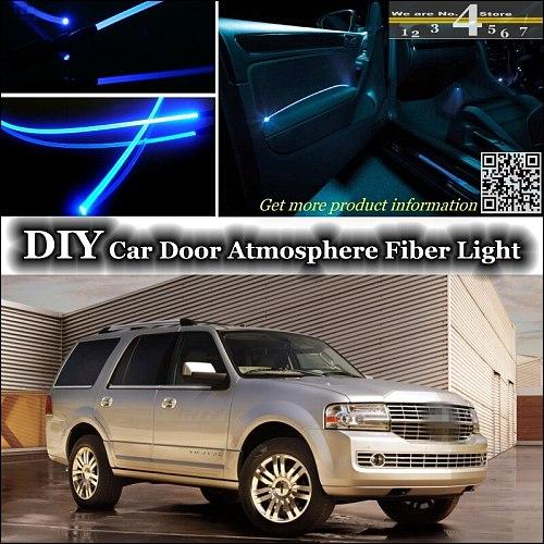 For Lincoln Navigator interior Ambient Light Tuning Atmosphere Fiber Optic Band Lights Inside Door Panel illumination Tuning