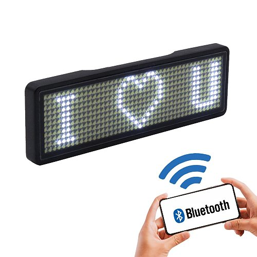 2020 fully new bluetooth LED name badge support multi-language multi-program small LED display HD text digits pattern display