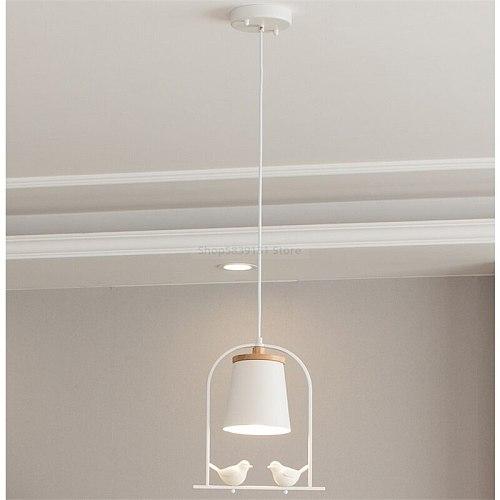 Nordic Minimalist Pendant Lights Restaurant Modern Bird LED Pendant Lamp Dining Table Bedroom Bedside Hanging Light Fixtures E27