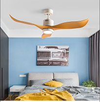 52 Inch Ceiling Fan Fans with Lights Remote Control Ceeling Ventilator Lamp Silent Copper Motor Three Blade Easy Clear 85-265v