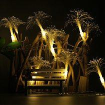 Led Gift Wedding Crystal String Light Flower Shape Optic Fiber Children Living Room Romantic Holiday Party Night Atmosphere