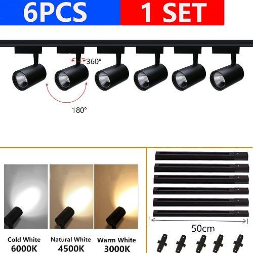 Led Track Light COB Spot Light Led Rail Track Lamp 12W 20W 30W 40W for Clothing Store Home Shop Indoor Lighting Fixture 220V