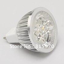 Led Spotlight MR16 LED Spot Light 12V/24V Led Bulb Led Lamp 4W 400LM Aluminum Housing Good for the Heat Release 10pcs/lot