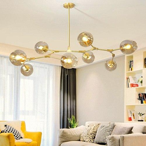 Modern Glass Pendant Light Nordic Dining Room Kitchen Light Designer Hanging Lamps Avize Lustre Lighting