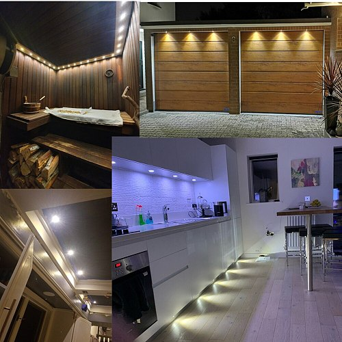 1W IP65 Mini LED Downlight Ambient Spotlight 12V Small Spot Bulb Light for Ceiling Stairs Walkways Courtyards Cabinet Corridor