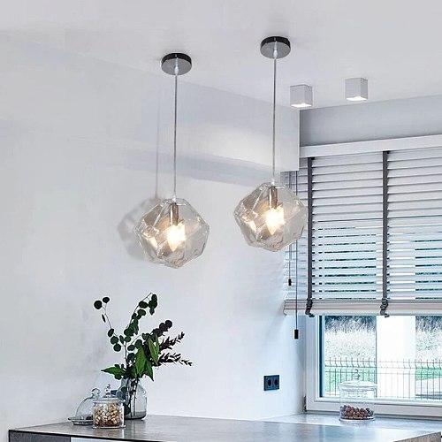 Modern Pendant Lights Dining Room Pendant Lamps Colorful Glass Restaurant Coffee Bedroom Lighting G9 Holder Lighting