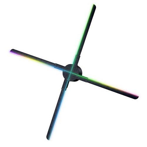638 LED 3D WiFi  Fan Hologram Projector 56CM WiFi Fan Holographic Advertising Machine Ultra-high-density Rotating Imagin