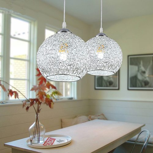 220V LED E27 Pastoral Style Bar Dining Room Lamp Aluminum Chandelier Decorative Use Lighting  Dining Room Lamp Wire Pendant Lamp