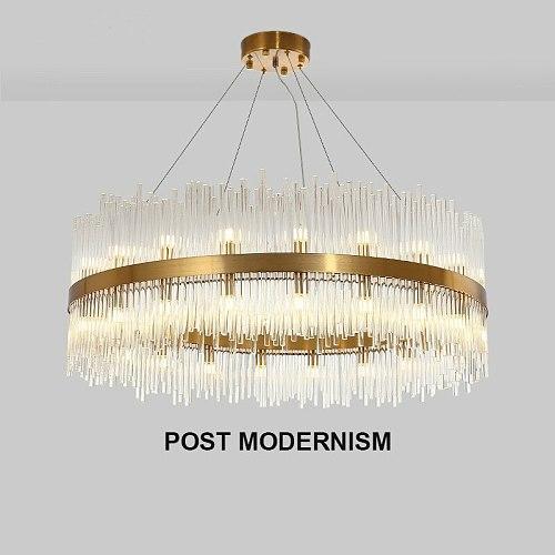 Luxury Lustre Gold Pendant Light Led G9 Luminaires Fixtures Hanging Lamp Living Room Led Pendant Lamp Glass Tubes Suspend Lamp