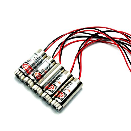 Focusable Red Laser Diode Module 650nm 5mW 3-5V Red Laser Dot Shape w/Driver (5pcs)
