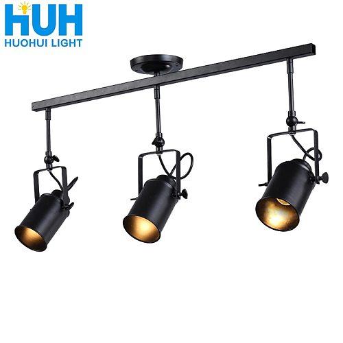 Vintage Iron Loft Industrial Spotlights Adjustable Pendant Lamp Clothing Store Lighting Coffee House//Bar/Mall Pendant Lamp
