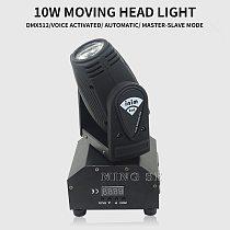 New Seer 10W RGBW 4in1 Moving Head DMX512 Light Beam LED Spot Lighting Show Disco DJ Laser Light
