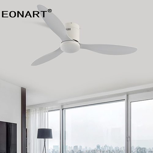 42 Inch Decorative DC Ceiling Fan With Remote Control With Light Bedroom ABS Blade Led Ceiling Fans With Light 220v Ventilador